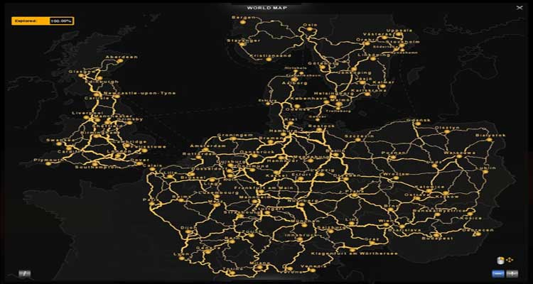 You will also get a realistic map of Europe